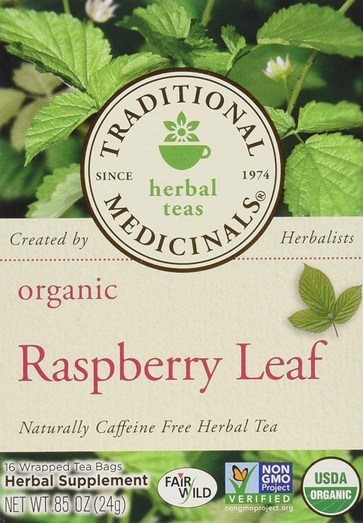 Picture of Traditional Medicinals Organic Raspberry Leaf Tea Box
