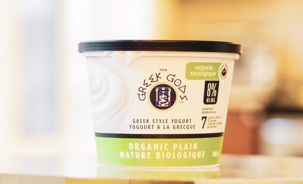 Greek God Organic Greek Style Plain Yogurt Container
