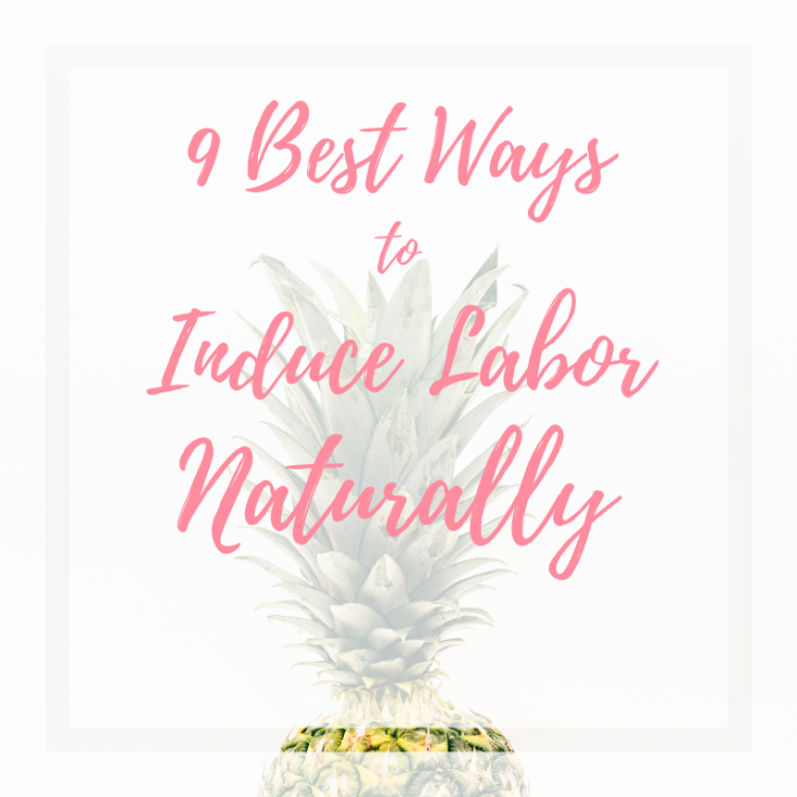 Cover photo of how to induce labor naturally blog post