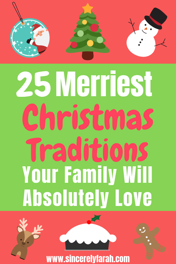 Pinterest image of 25 memorable Christmas traditions to start with your family