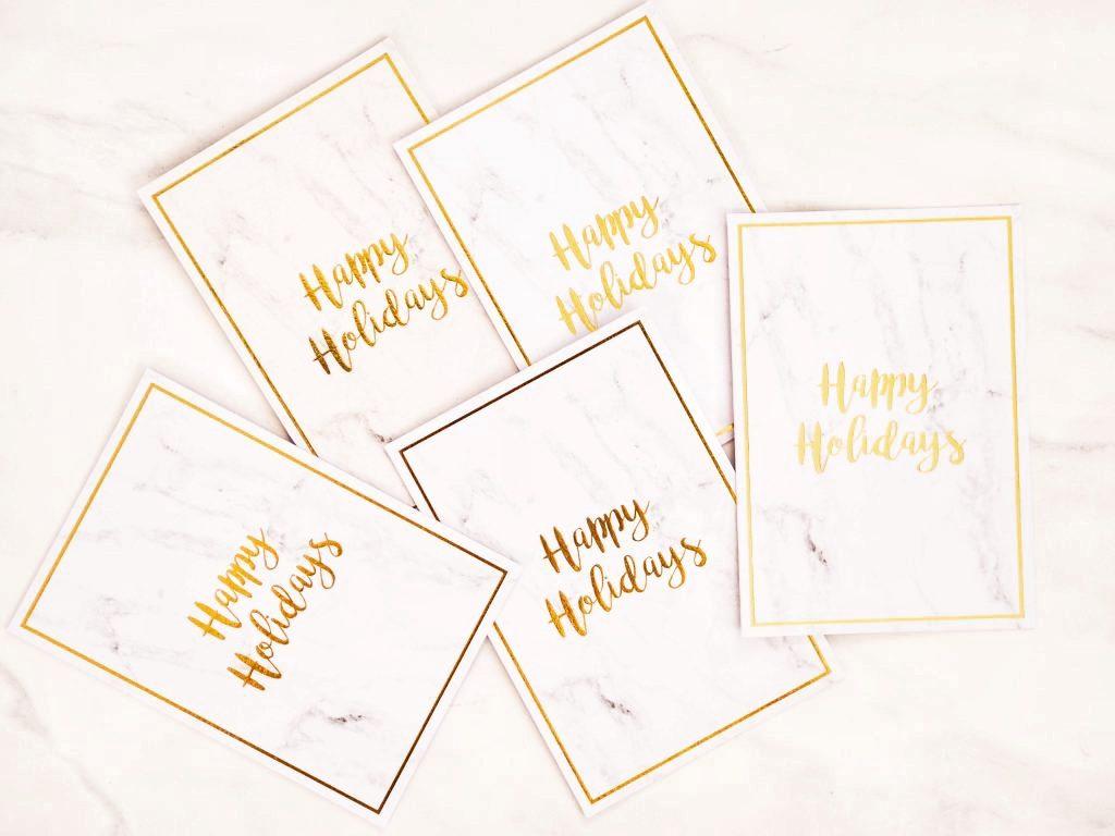 Happy Holidays stationary Christmas cards