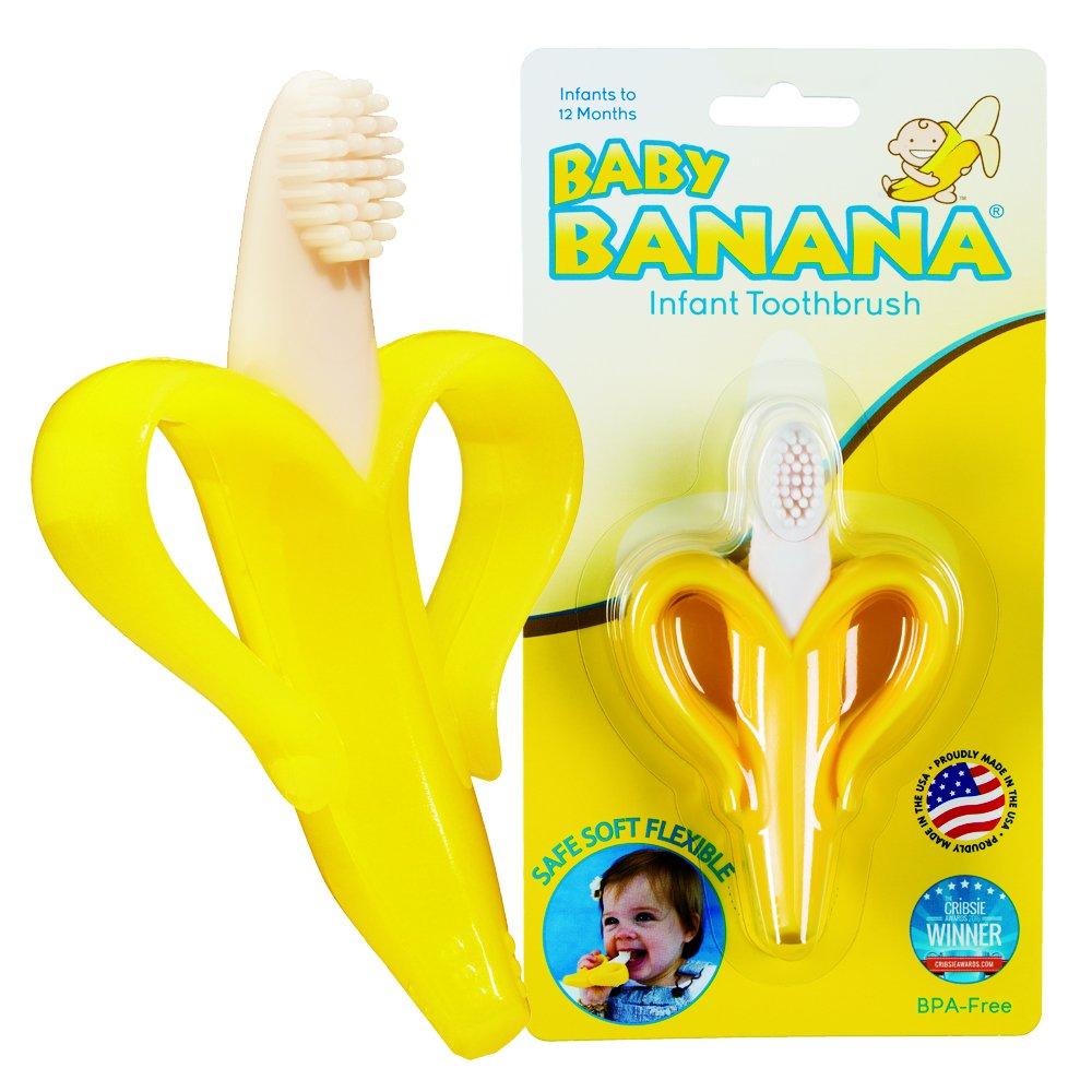 Baby banana toothbrush and box