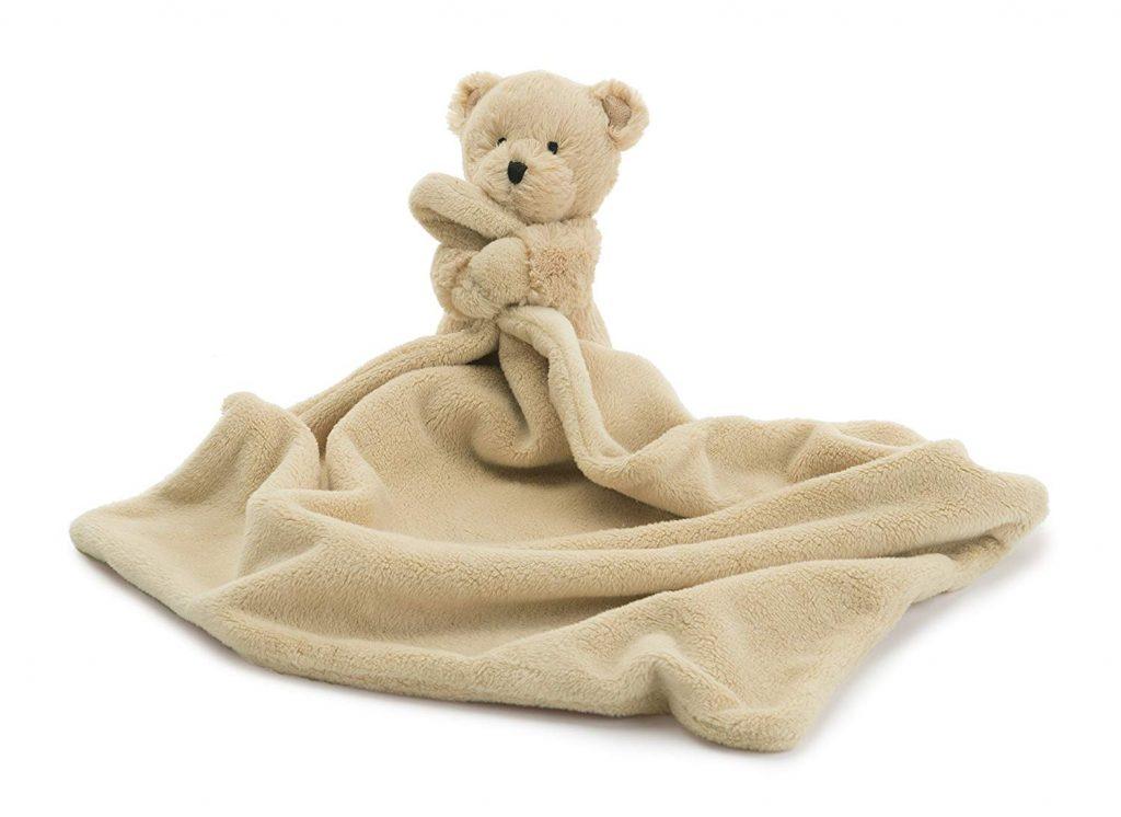 Beige teddy bear lovey