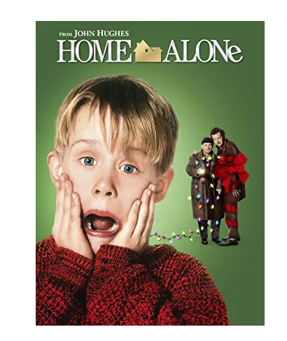 Home alone movie cover poster for Christmas eve box suggestions