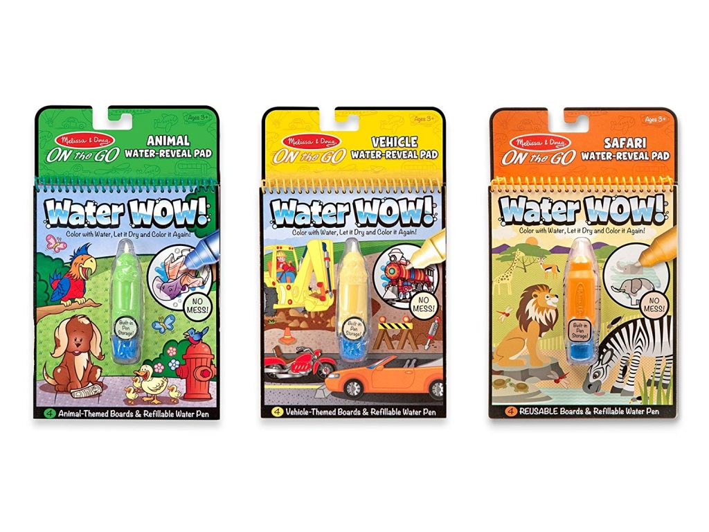 Three Water Wow! Books in assorted colors (green, yellow and orange)