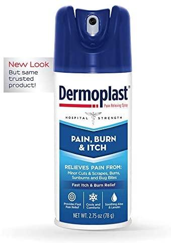 Blue bottle of Dermoplast